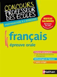 Français, épreuve orale : nouveau concours, formation master 2 : préparation à l'épreuve