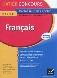 Français, master, professeur des écoles, épreuve d'admissibilité