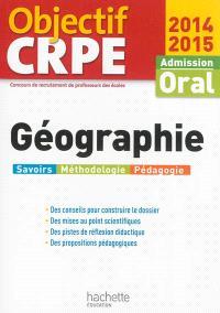 Géographie : admission oral, 2014-2015