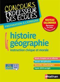 Histoire-géographie, instruction civique et morale : préparation à l'épreuve : master, nouveau concours