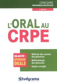L'oral au CRPE