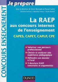La RAEP aux concours internes de l'enseignement : CAPES, CAPET, CAPLP, CPE
