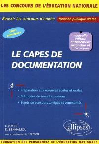 Le Capes de documentation : concours externes, internes, réservés et autres concours