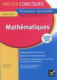 Mathématiques : épreuve d'admissibilité : nouveau concours 2011