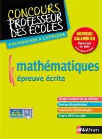 Mathématiques, épreuve écrite : nouveau concours master