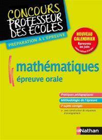 Mathématiques, épreuve orale : nouveau concours, formation master 2 : préparation à l'épreuve
