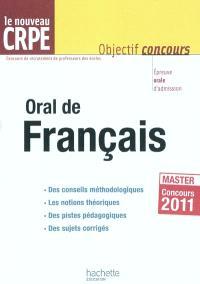 Oral de français : le nouveau CRPE, master concours 2011