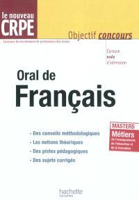 Oral de français, le nouveau CRPE : épreuve orale d'admission