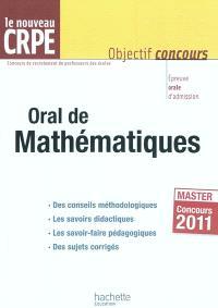 Oral de mathématiques : le nouveau CRPE, master concours 2011