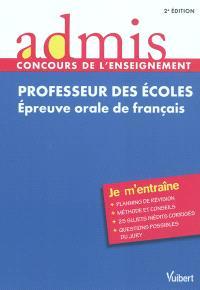 Professeur des écoles : épreuve orale de français