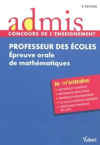 Professeur des écoles : épreuve orale de mathématiques