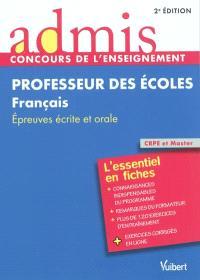 Professeur des écoles, français : épreuves écrite et orale : CRPE et Master