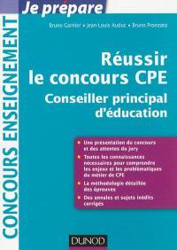 Réussir le concours CPE : conseiller principal d'éducation