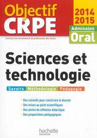 Sciences et technologie : admission oral, 2014-2015