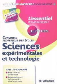 Sciences expérimentales et technologie : concours professeur des écoles