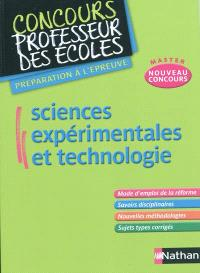 Sciences expérimentales et technologie : nouveau concours master