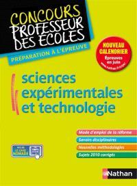 Sciences expérimentales et technologie : nouveau concours, master