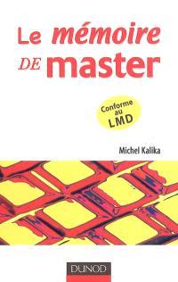 Le mémoire de master : comment réussir votre projet d'étude