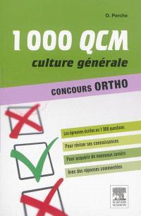 1.000 QCM, culture générale : concours ortho