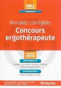 Annales corrigées, concours ergothérapeute : concours 2016