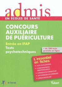 Concours auxiliaire de puériculture : entrée en IFAP, tests psychotechniques