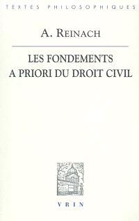 Les fondements a priori du droit civil