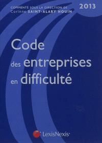Code des entreprises en difficulté : 2013