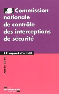 19e rapport d'activité : année 2010