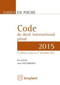 Code de droit international pénal 2015