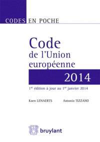 Code de l'Union européenne 2014