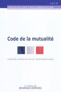 Code de la mutualité : parties législative et réglementaire