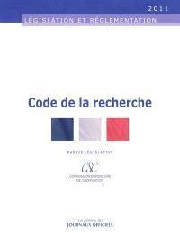 Code de la recherche : partie législative