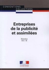 Entreprises de la publicité et assimilées : convention collective nationale du 22 avril 1955 (étendue par arrêté du 29 juillet 1955) : IDCC 86