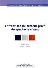 Entreprises du secteur privé du spectacle vivant : convention collective nationale du 3 février 2012, étendue par arrêté du 29 mai 2013 : IDCC 3090