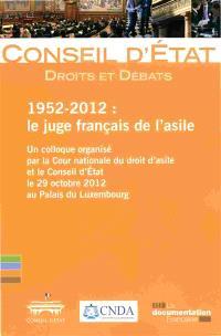 Le juge français de l'asile : 1952-2012