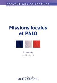 Missions locales et PAIO : étendue