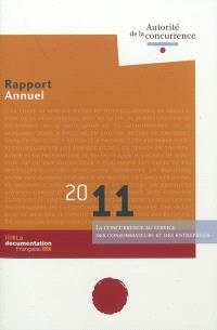 Rapport annuel 2011 : la concurrence au service des consommateurs et des entreprises