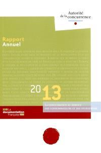 Rapport annuel 2013 : la concurrence au service des consommateurs et des entreprises