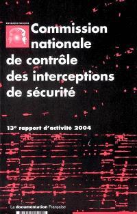 13e rapport d'activité : année 2004