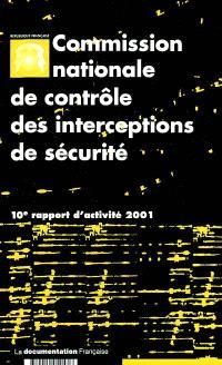 10e rapport d'activité : année 2001
