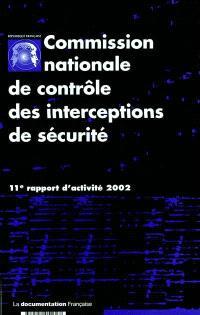 11e rapport d'activité : année 2002
