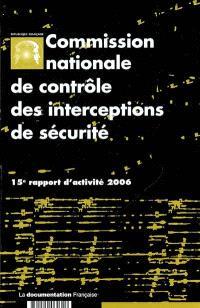 15e rapport d'activité : année 2006