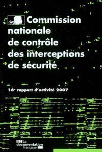 16e rapport d'activité : année 2007