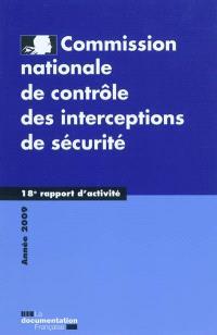 18e rapport d'activité : année 2009