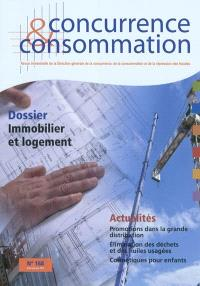 Concurrence & consommation. n° 168, Immobilier et logement