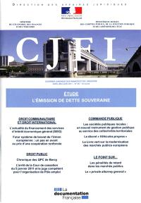 Courrier juridique des finances et de l'industrie (Le). n° 64, L'émission de dette souveraine