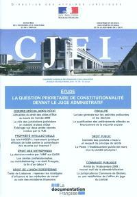 Courrier juridique des finances et de l'industrie (Le). n° 59, La question prioritaire de constitutionnalité devant le juge administratif