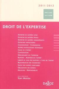 Droit de l'expertise 2011-2012