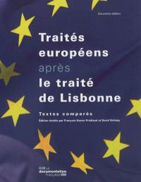 Les traités européens après le traité de Lisbonne : textes comparés