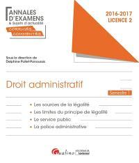 Droit administratif : licence 2 semestre 1 : 2016-2017